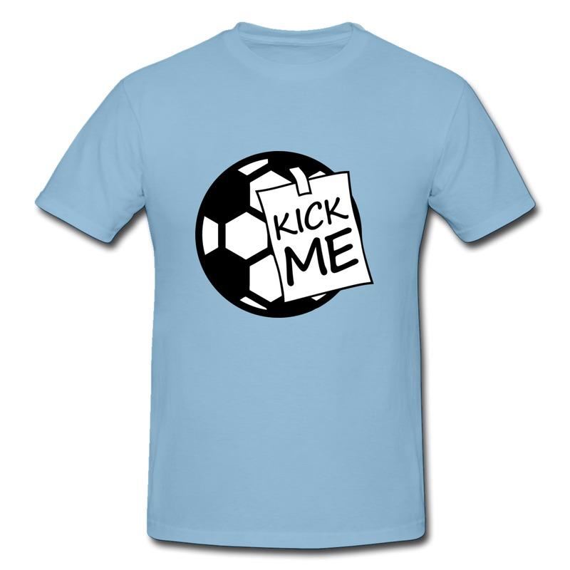 T Shirt Men Regular kick me ball Customized Tshirts for Mens Promotion Sale(China (Mainland))