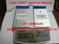 7.4V 13000mAh Tablets Batteries DIY Cube U30GT, U30GT1, U30GT2 dual four-core tablet pc battery 33161125 Size:3.5 * 151 * 125 mm
