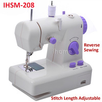 Electric Household Multi-Function Sewing Machine can Adjust Stitch Length, Reverse Sewing, with Power Supply, Free Shipping