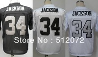 Los Angeles #34 Bo Jackson Men's Authentic Throwback 1987 Team Black/White/Alternate White Football Jersey