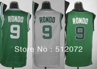 Boston #9 Rajon Rondo Men's Authentic Home White/Road Green/Alternate Green Basketball Jersey