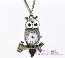 wholesale owl pocket watch