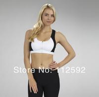 Double shoulder strap cross sports bra wireless clothing anti-rattle running female yoga
