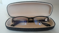 Box myopia glasses finished product 400 male Women fashion black