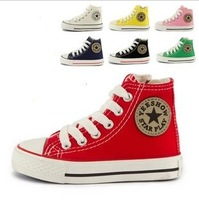 2014 Hot Sale Size25-37 Children Shoes Kids Canvas Sneakers Boys Flats Girls Boots denim jeans 660 sports always available