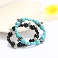 $15 Free Shipping Wholesale turquoise Skeleton Lovers Strand Bracelets Tourmaline Skull Bracelet For Femininas And Men Pulseiras