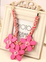 For nec  klace female short design accessories flower fashion bohemia crystal