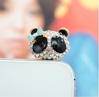 For iphone  4 4s  for SAMSUNG    for htc   mobile phone dust plug bow plug earphones 6194