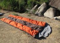 hybrid type cotton sleeping bag set for winter,can put cushion inside