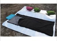Axeman envelope with pillow sets double layer fleece sleeping bag travel portable sleeping bag