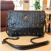 2014 New arrive Europe and America skull shoulder Messenger bag chain packet women leather handbags SD50-81