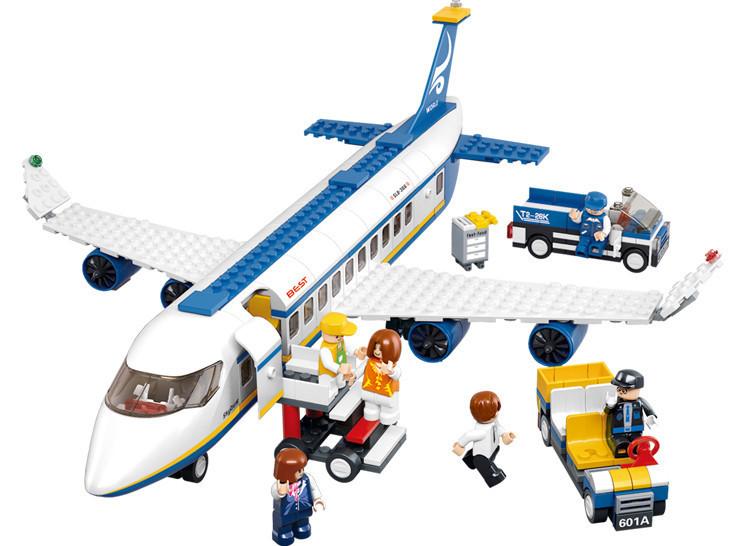 Grátis frete Sluban iluminar Air Bus blocos define 483 pcs bricks Diy Toy compatível com lego(China (Mainland))