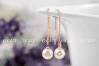 Wholesale ROXI Fashion Accessories Jewelry Gold Plated Pearl Drop Earrings for Women