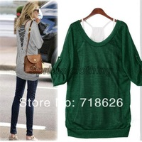 2014 Drop Shipping  fashion ladies Women's Korea popular Comfort casual Long Sexy Vest Top T-Shirt Set 3170