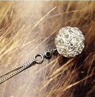 Min order $10 (mix order) Woven wire ball diamond necklace