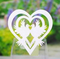 Wedding Party Laser Die Cut Table Paper Place Cards Table Decoration Decorative LOVE BIRDS Wedding Decoration Favor Party Paper