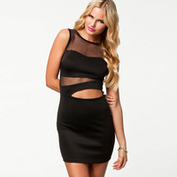 Suspenders sleeveless fashion pencil skirt empty thread 21043 sexy one-piece dress