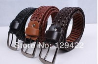 Wholesale Factory wholesale men and ladies casual leather belt, braided belt, buckle, hand-woven belts for men and women
