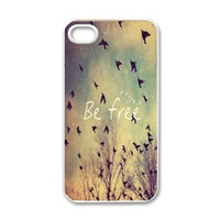 2014 New Arrival Hot Sales Fashion Sky Birds BE FREE Case Cover Skin For iphone 5 5G 5th Freeshipping&wholesale