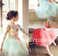 5pieces/lot,  Kids Girls Long Petti Skirts, 3-10years, A-bg270