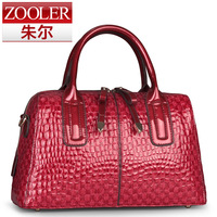 Red bridal bag crocodile pattern handbag women's cowhide female women's handbag shoulder bag fashion handbag