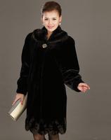 2014 Fashion Plus Size Winter Warm Women Luxury Overcoats Lady Faux  Mink Wool Outerwear Polish Jacket Women's Fur Coat A687