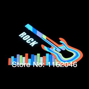 Free shopping Knight Rider lights music rhythm lamp audio decorative lamp auto sound control lamp 70x16cm(China (Mainland))