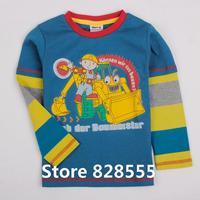 new 2014 boys tops & tees 100% cotton baby boy children t shirts autumn-summer kids long sleeve 100 cotton cartoon boys A4269#