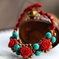 National vintage jewelry trend plaid pavans night market bracelet female