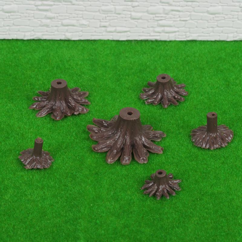 DIY sand table building model material tree foot Support stumps medium tree stool 50 pcs/lot(China (Mainland))