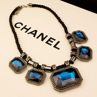Fashion normic necklace vintage accessories crystal gem short necklace chain female accessories