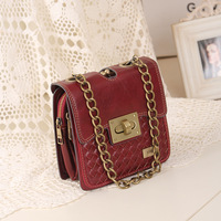 free shipping Women's handbag motorcycle bag mng knitted small bag orgnan bag vintage day clutch messenger bag shoulder bag