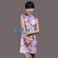 Summer short design women's of improved cheongsam chinese style vintage slim cheongsam dress