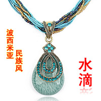 Bohemia drop necklace national trend vintage accessories exaggerated necklace fashion design female short