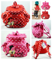 2014 new style Retail Free Shipping kids backpack,kids bag,minnie mouse kintergarden children bag