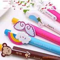 10pcs/lot 6 designs Cute Cartoon Kawaii Novelty Ballpoint Pens Lovely Cat Bird Ball Pen Korean Stationery Free shipping 014