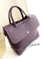 women's dual-use handbag genuine leather handbag women's handbag vintage fashion preppy style
