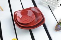 Porcelain plates melamine plate plastic tray melamine tableware flat plate square plate tofu plate snack tray