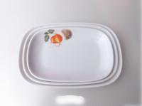 Melamine tableware melamine plastic tableware rectangular rice rolls plate dish fruit plate dish