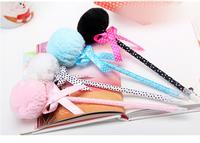12PCS/LOT Creative stationery Japan and South Korea stationery bowknot maomao princess ball pen/ball pen   /FREE SHIPPING