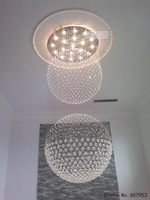 Free shipping  D80cm*H220cm LED Modern Crystal Chandelier Light Fixture Crystal Pendant Ceiling Lamp   sent by DHL or FedEx