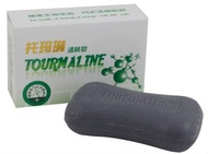 3pcs/lot  Bamboo charcoal black tourmaline soap skin care oil-control activated cells anti acne and various skin diseases 100g