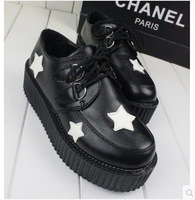 Five-pointed star single shoes 2014 spring and autumn fashion casual female shoes platform women's shoes single shoes female