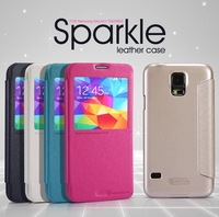 by dhl for samsung galaxy s5 g900 leather case flip cover with nillkin brand