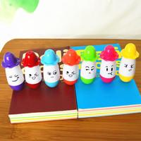 10pcs/lot Cute cartoon hat Ball Point Pen Pencils Telescopic Vitamin Capsule Ballpen for Children /FREE SHIPPING