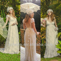 JM.Bridals Free Shipping!!! CY2145 Charming A line Cap sleeves Lace maternity wedding dresses 2014