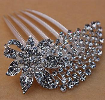 Бесплатная доставка мода кристалл горного хрусталя посеребренные волосы ювелирные ...