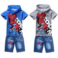 Summer Children's Clothing Spiderman Children Hoodies + Kids Pants Kids Clothes Sets Vestidos Baby Clothing Boys Clothing Set