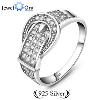 JewelOra Fine jewelry Wedding Rings for Men #RI101293 charm engagement genuine 925 Sterling Silver Men Belt Ring