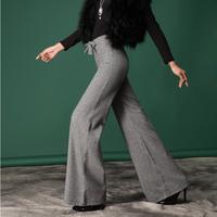 Hign Quality Original Design 2014 Woolen Wide Leg  Loose  Pants Female ol Long  Elegant Casual  High Waist Classic Trousers